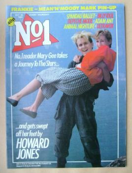 No 1 Magazine - Howard Jones and Mary Gee cover (20 October 1984)