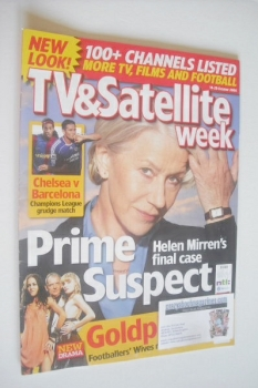 TV & Satellite Week magazine - Helen Mirren cover (14-20 October 2006)