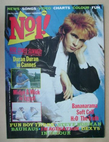 <!--1983-07-02-->No 1 magazine - Nick Rhodes cover (2 July 1983)
