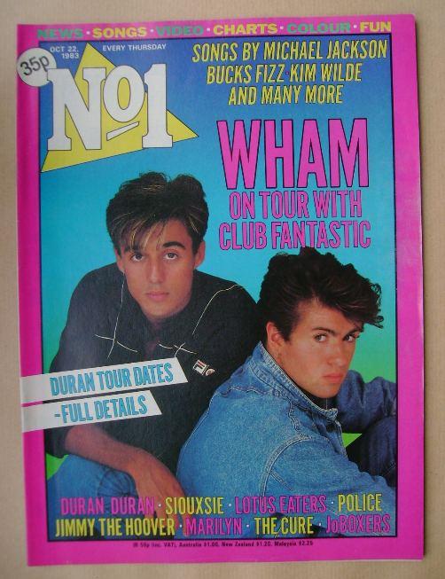 <!--1983-10-22-->No 1 magazine - Wham cover (22 October 1983)