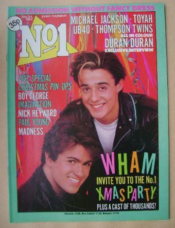 <!--1983-12-24-->No 1 magazine - Wham cover (24 December 1983)