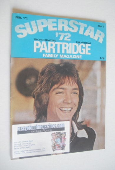 <!--1972-02-->Superstar '72 magazine (February 1972 - No. 5 - David Cassidy