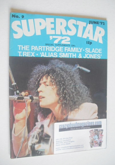 <!--1972-06-->Superstar '72 magazine (June 1972 - No. 9 - Marc Bolan cover)