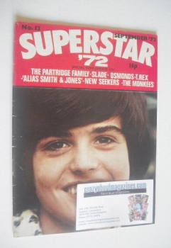 Superstar '72 magazine (September 1972 - No. 12 - Donny Osmond cover)