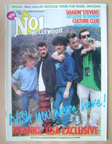 <!--1984-12-01-->No 1 Magazine - Frankie Goes To Hollywood cover (1 Decembe