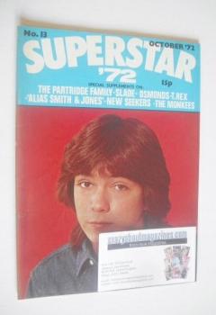Superstar '72 magazine (October 1972 - No. 13 - David Cassidy cover)