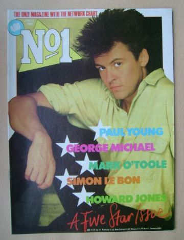 <!--1985-04-13-->No 1 Magazine - Paul Young cover (13 April 1985)