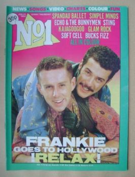 No 1 Magazine - Holly Johnson and Paul Rutherford cover (21 January 1984)
