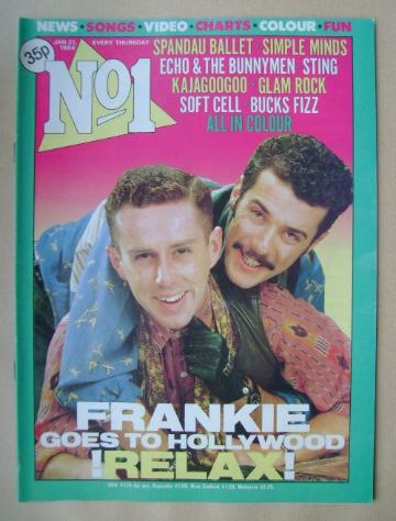 <!--1984-01-21-->No 1 Magazine - Holly Johnson and Paul Rutherford cover (2