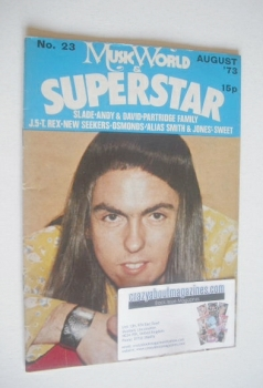 Music World & Superstar magazine (August 1973 - No. 23 - Dave Hill cover)