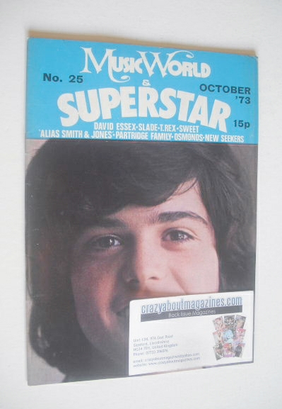 <!--1973-10-->Music World & Superstar magazine (October 1973 - No. 25 - Don