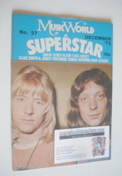 Music World & Superstar magazine (December 1973 - No. 27 - Sweet cover)