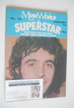 Music World & Superstar magazine (January 1974 - No. 28 - David Essex cover)