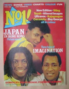 No 1 magazine - Imagination cover (4 June 1983)