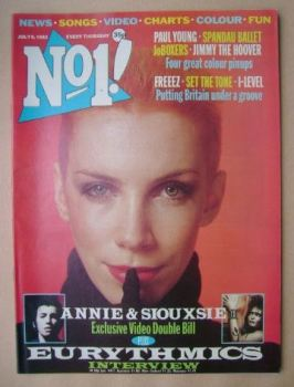 No 1 magazine - Annie Lennox cover (9 July 1983)