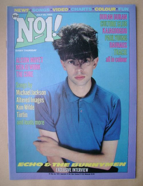 <!--1983-07-30-->No 1 magazine - Ian McCulloch cover (30 July 1983)