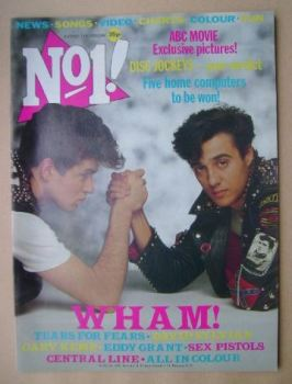 No 1 magazine - George Michael and Andrew Ridgeley cover (25 June 1983)