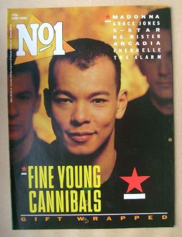 <!--1986-02-01-->No 1 Magazine - Roland Gift cover (1 February 1986)