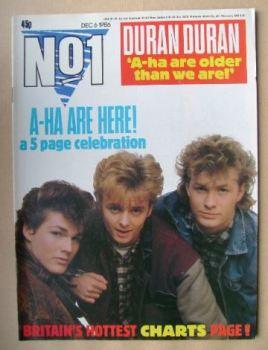 No 1 Magazine - A-Ha cover (6 December 1986)