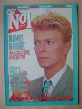 No 1 magazine - David Bowie cover (24 September 1983)