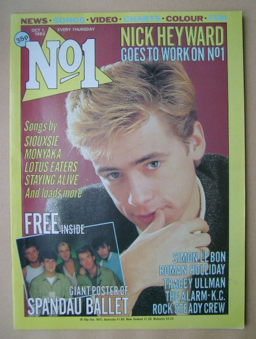 <!--1983-10-01-->No 1 magazine - Nick Heyward cover (1 October 1983)