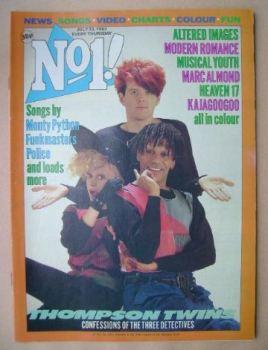 No 1 magazine - Thompson Twins cover (23 July 1983)