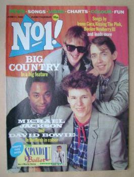 No 1 magazine - Big Country cover (11 June 1983)