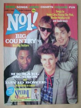 No 1 magazine - Big Country cover (11 June 1983)