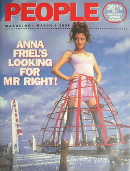 People magazine - 1 March 1998 - Anna Friel cover