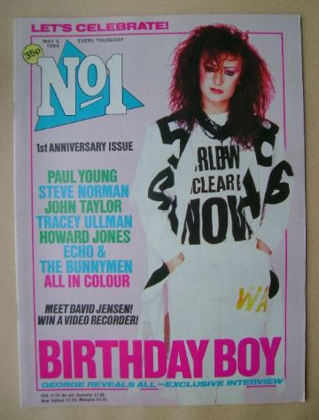 <!--1984-05-05-->No 1 Magazine - Boy George cover (5 May 1984)