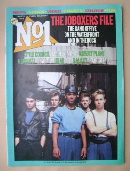 No 1 magazine - JoBoxers cover (27 August 1983)