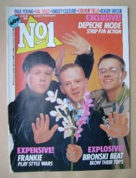 No 1 Magazine - Bronski Beat cover (19 January 1985)
