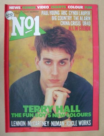 <!--1984-01-28-->No 1 Magazine - Terry Hall cover (28 January 1984)
