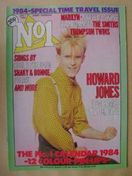 No 1 Magazine - Howard Jones cover (7 January 1984)