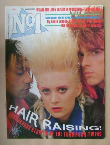 <!--1985-08-17-->No 1 Magazine - The Thompson Twins cover (17 August 1985)