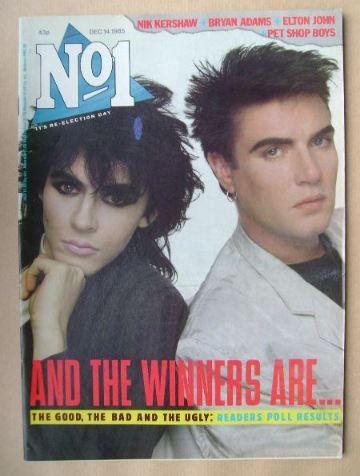 <!--1985-12-14-->No 1 Magazine - Nick Rhodes and Simon Le Bon cover (14 Dec