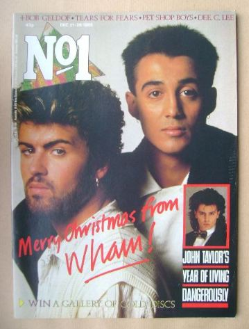 <!--1985-12-21-->No 1 Magazine - Wham cover (21-28 December 1985)