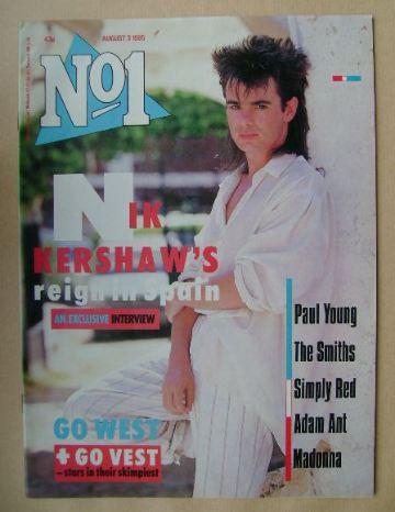 <!--1985-08-03-->No 1 Magazine - Nik Kershaw cover (3 August 1985)