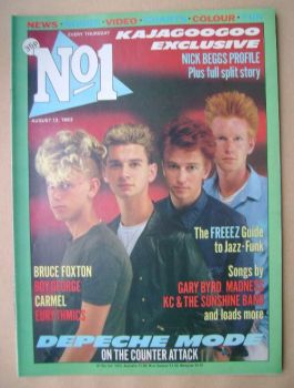 No 1 magazine - Depeche Mode cover (13 August 1983)