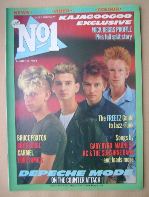 <!--1983-08-13-->No 1 magazine - Depeche Mode cover (13 August 1983)