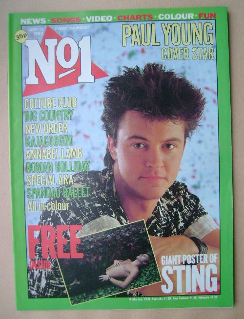 <!--1983-09-17-->No 1 magazine - Paul Young cover (17 September 1983)