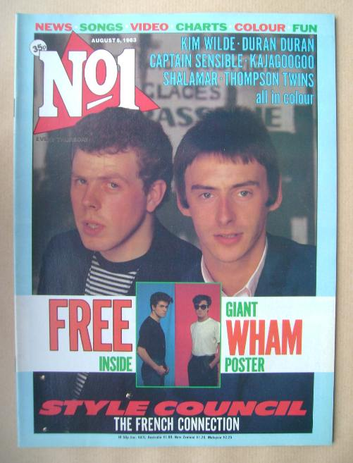 <!--1983-08-06-->No 1 magazine - The Style Council cover (6 August 1983)