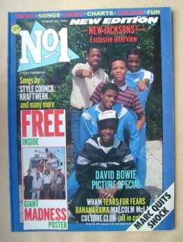 No 1 magazine - New Edition cover (20 August 1983)