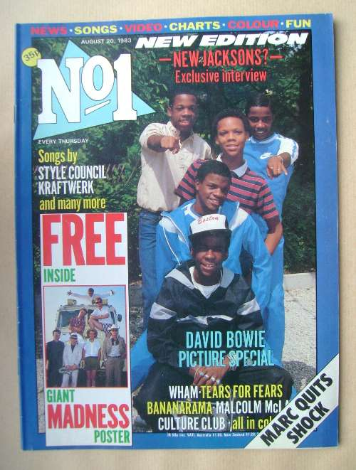 <!--1983-08-20-->No 1 magazine - New Edition cover (20 August 1983)