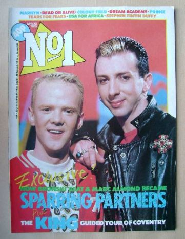 <!--1985-04-20-->No 1 Magazine - Jimmy Somerville and Marc Almond cover (20