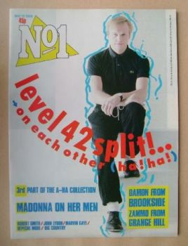 No 1 Magazine - Mark King cover (10 May 1986)