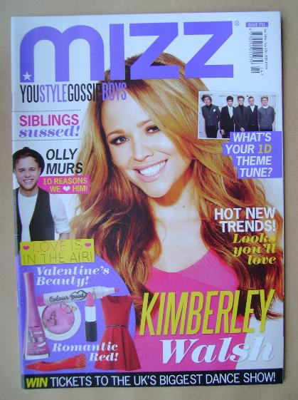 <!--2013-01-24-->MIZZ magazine - Kimberley Walsh cover (24 January - 20 Feb