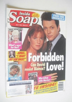 Inside Soap magazine - Michael French and Patsy Palmer cover (July 1995)