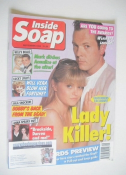 Inside Soap magazine - Michael French and Danniella Westbrook cover (September 1995)