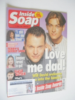 Inside Soap magazine - Michael French and Paul Nicholls cover (1-14 June 1996)